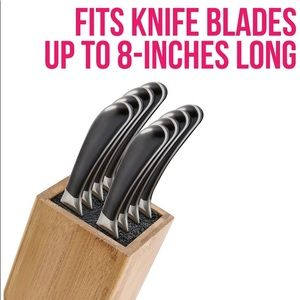 NWT Bamboo Universal Knife Block